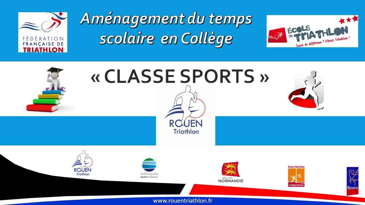 Présentation Classe Sport 2017 Rouen Triathlon