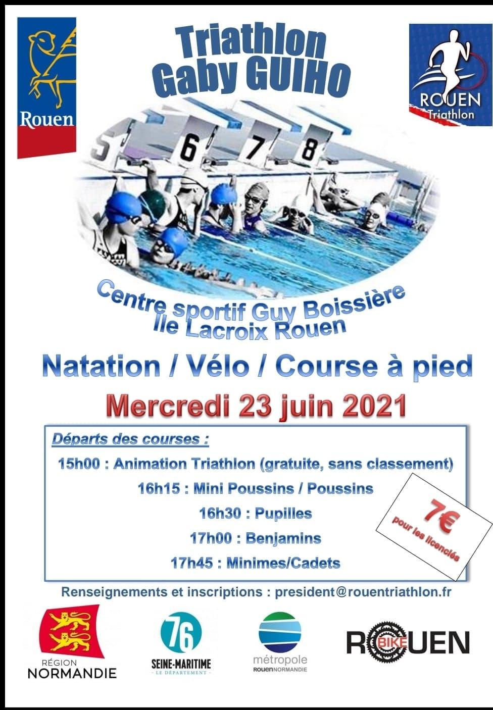 Affiche du triathlon